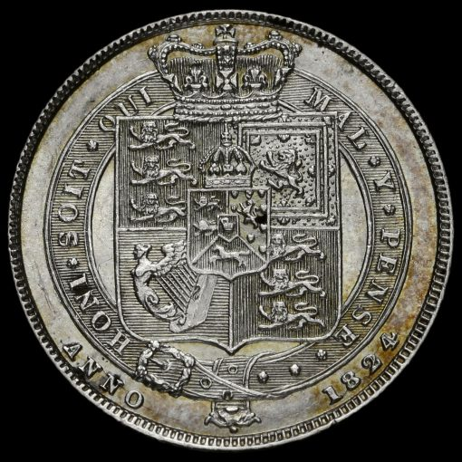 1824 George IV Milled Silver Sixpence Reverse