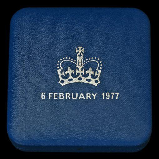 1977 Sterling Silver Proof Silver Jubilee Crown Box