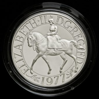1977 Sterling Silver Proof Silver Jubilee Crown Obverse