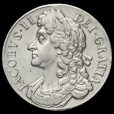 1686 James II Early Milled Silver Crown Obverse