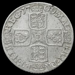 1709 Queen Anne Early Milled Silver Shilling Reverse