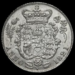 1821 George IV Milled Silver Sixpence Reverse