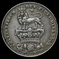 1826 George IV Bare Head Milled Silver Shilling Reverse