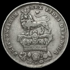 1829 George IV Bare Head Milled Silver Shilling Reverse