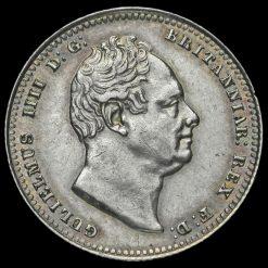 1836 William IV Milled Silver Shilling Obverse