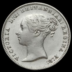 1841 Queen Victoria Young Head Silver Fourpence / Groat Obverse