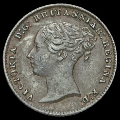 1854 Queen Victoria Young Head Silver Fourpence / Groat Obverse