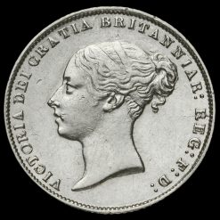 1864 Queen Victoria Young Head Silver Sixpence Obverse