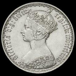 1874 Queen Victoria Gothic Florin Obverse