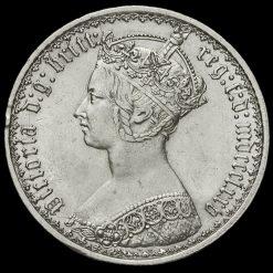 1875 Queen Victoria Gothic Florin Obverse