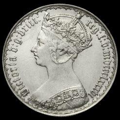 1886 Queen Victoria Gothic Florin Obverse