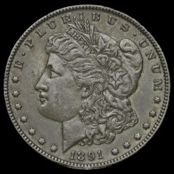1891 USA Silver Morgan Dollar Obverse