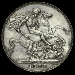 1895 Queen Victoria Veiled Head Silver LIX Crown Reverse