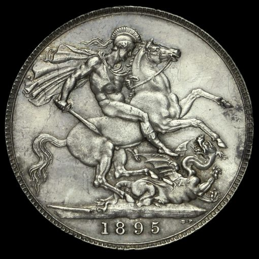 1895 Queen Victoria Veiled Head Silver LIX Crown Reverse