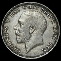 1913 George V Silver Half Crown Obverse