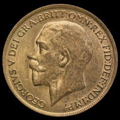 1913 George V Penny Obverse