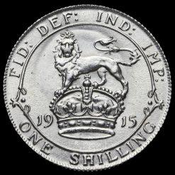 1915 George V Silver Shilling Reverse
