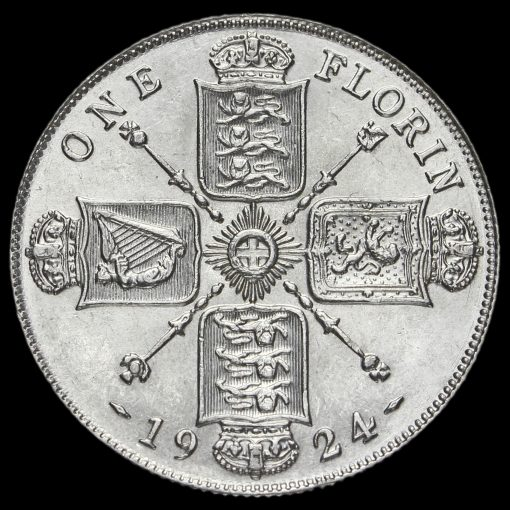 1924 George V Silver Florin Reverse