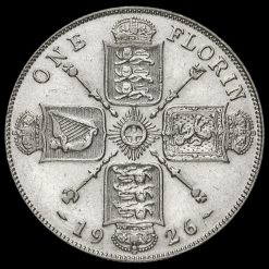 1926 George V Silver Florin Reverse