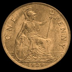 1929 George V Penny Reverse