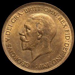 1930 George V Penny Obverse