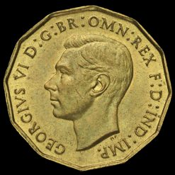1937 George VI Brass Threepence Obverse