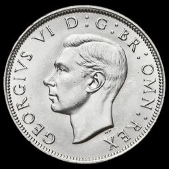 1940 George VI Silver Half Crown Obverse