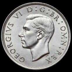 1941 George VI Silver Half Crown Obverse