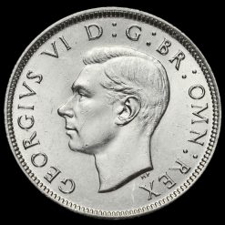 1942 George VI Silver Two Shilling Coin / Florin Obverse