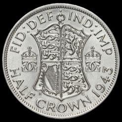 1943 George VI Silver Half Crown Reverse