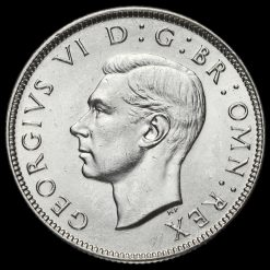 1944 George VI Silver Two Shilling Coin / Florin Obverse
