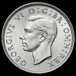 1946 George VI Silver Two Shilling Coin / Florin Obverse