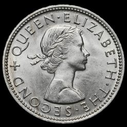 1964 New Zealand Elizabeth II Florin Obverse