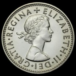 1970 Elizabeth II Proof English Shilling Obverse