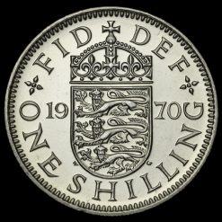 1970 Elizabeth II Proof English Shilling Reverse
