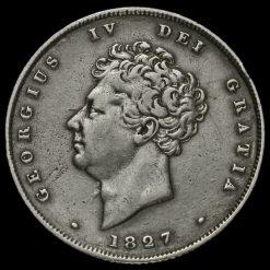 1827 George IV Milled Silver Shilling Obverse