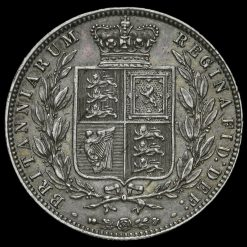 1878 Queen Victoria Young Head Silver Half Crown Reverse