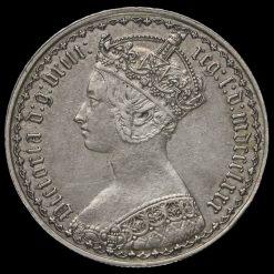 1880 Queen Victoria Gothic Florin Obverse