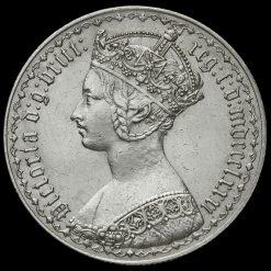 1881 Queen Victoria Gothic Florin Obverse