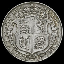 1912 George V Silver Half Crown Reverse