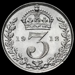 1912 George V Silver Threepence Reverse