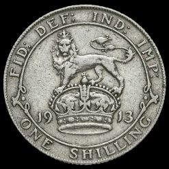 1913 George V Silver Shilling Reverse