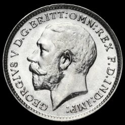 1913 George V Silver Threepence Obverse