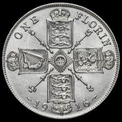 1916 George V Silver Florin Reverse