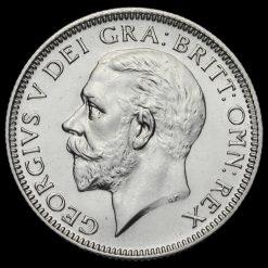 1927 George V Proof Silver Shilling Obverse