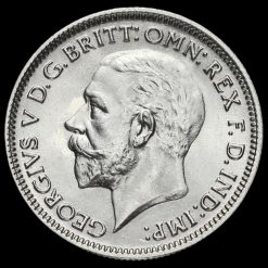 1936 George V Silver Sixpence Obverse