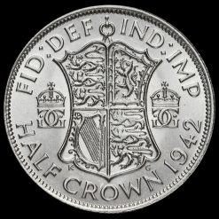 1942 George VI Silver Half Crown Reverse