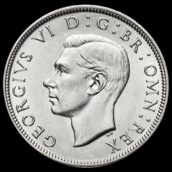 1945 George VI Silver Half Crown Obverse