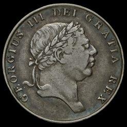1813 George III Silver Eighteenpence Bank Token Obverse