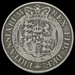 1817 George III Milled Silver Half Crown Reverse